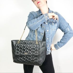 Kate Spade Quilted Leather Tote Chain purse bag